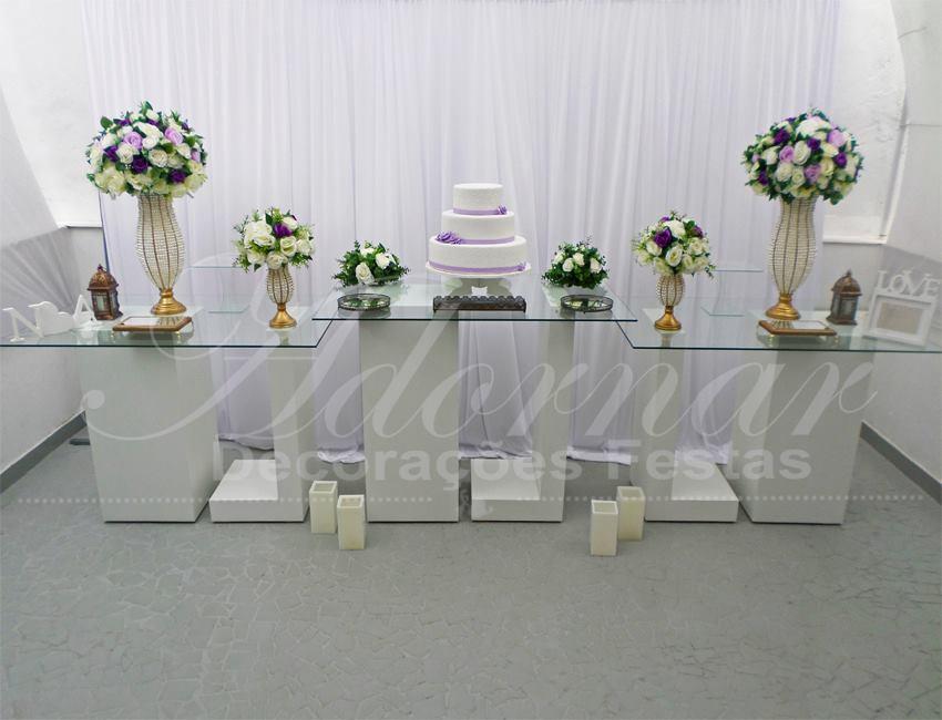 Decoração Casamento Lilás Roxo e Branco
