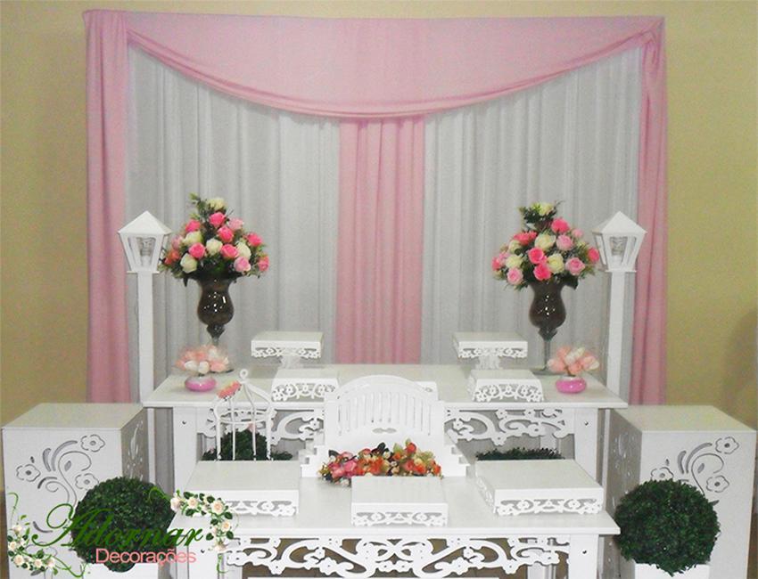 Decoração Casamento Rosa e Branco