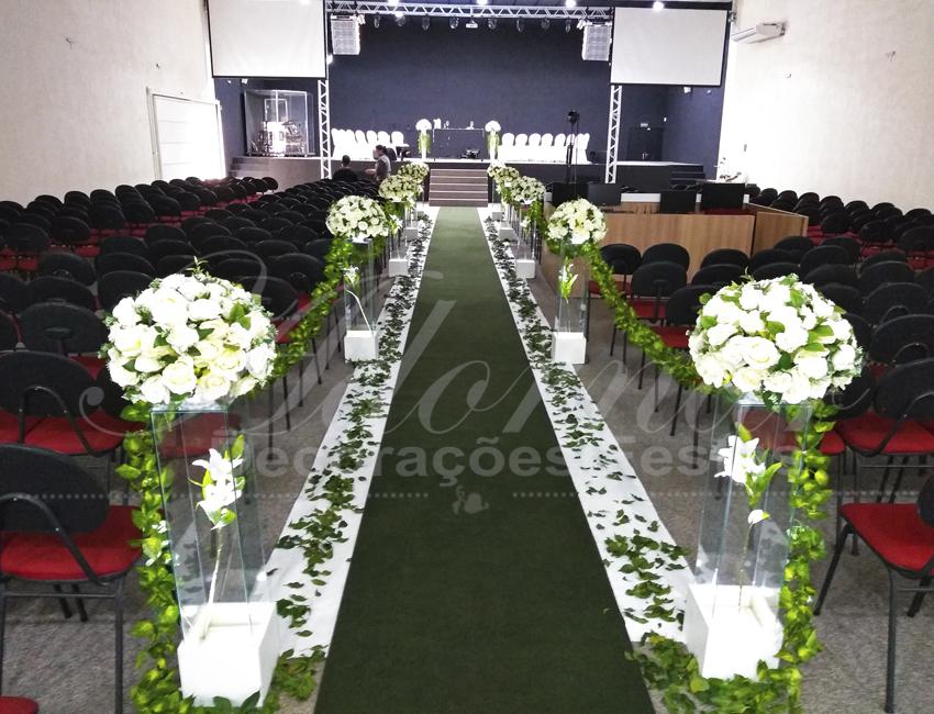 Decoração Casamento Branco e Verde