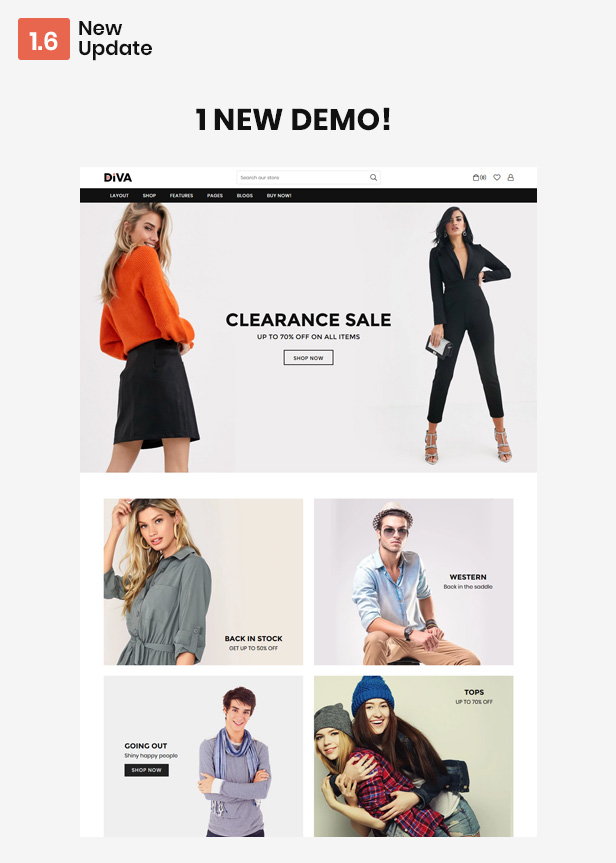 Diva - Minimal and Modern Shopify Theme - 1