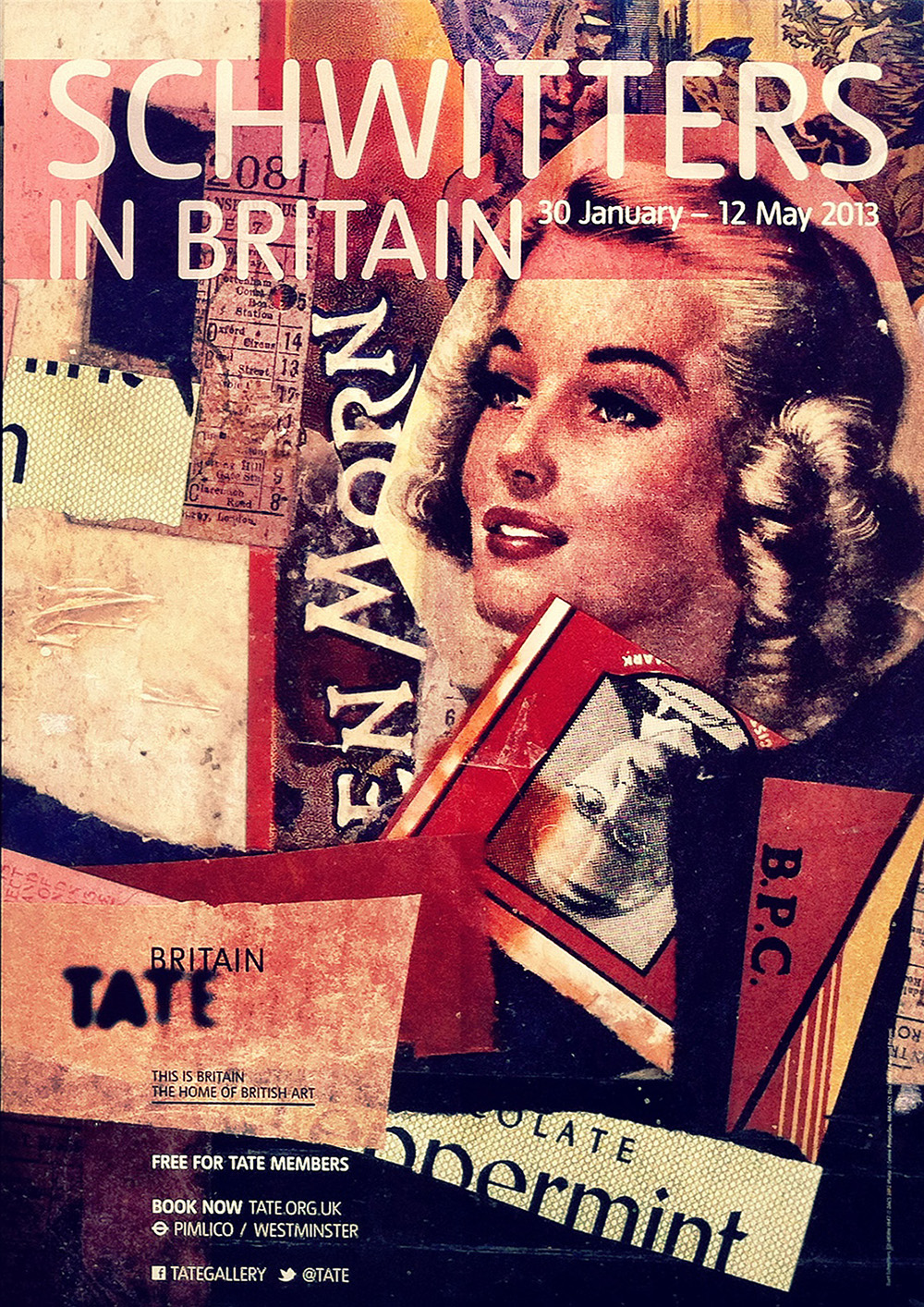 Schwitters in Tate Britain poster, a content brand.