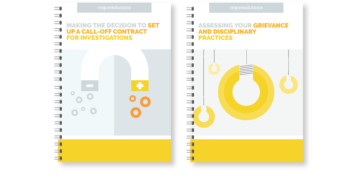 White Paper covers for CMP resolutions, featuring visual language style and illustrations.
