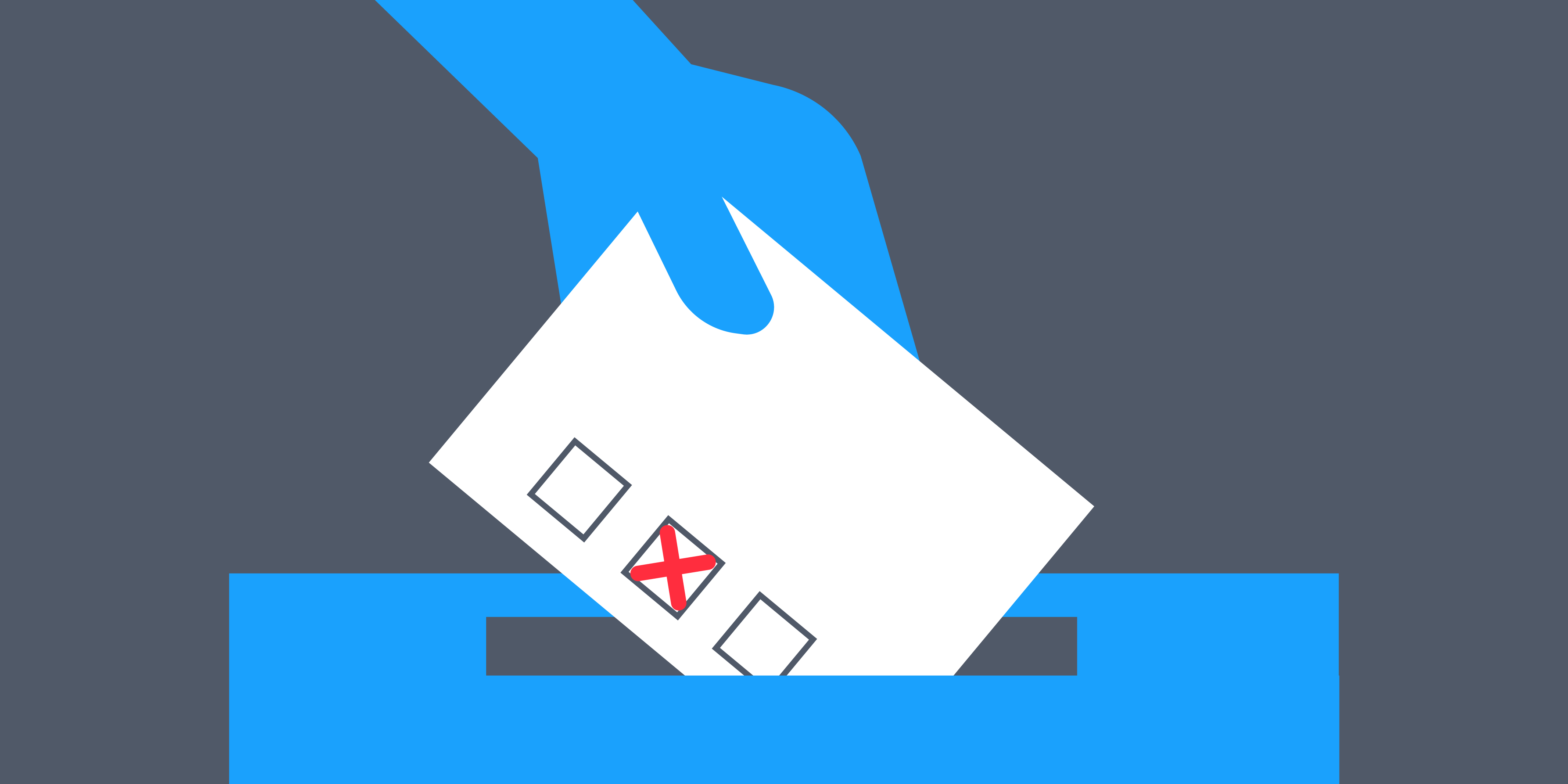 Illustration of political voting slip, representing the importance of defining your audience before branding