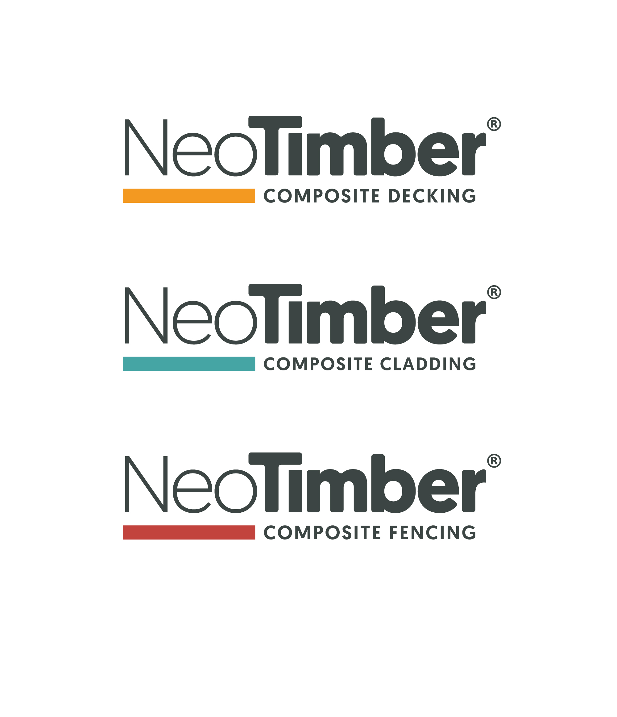 NeoTimber sub brands for decking, cladding and fencing