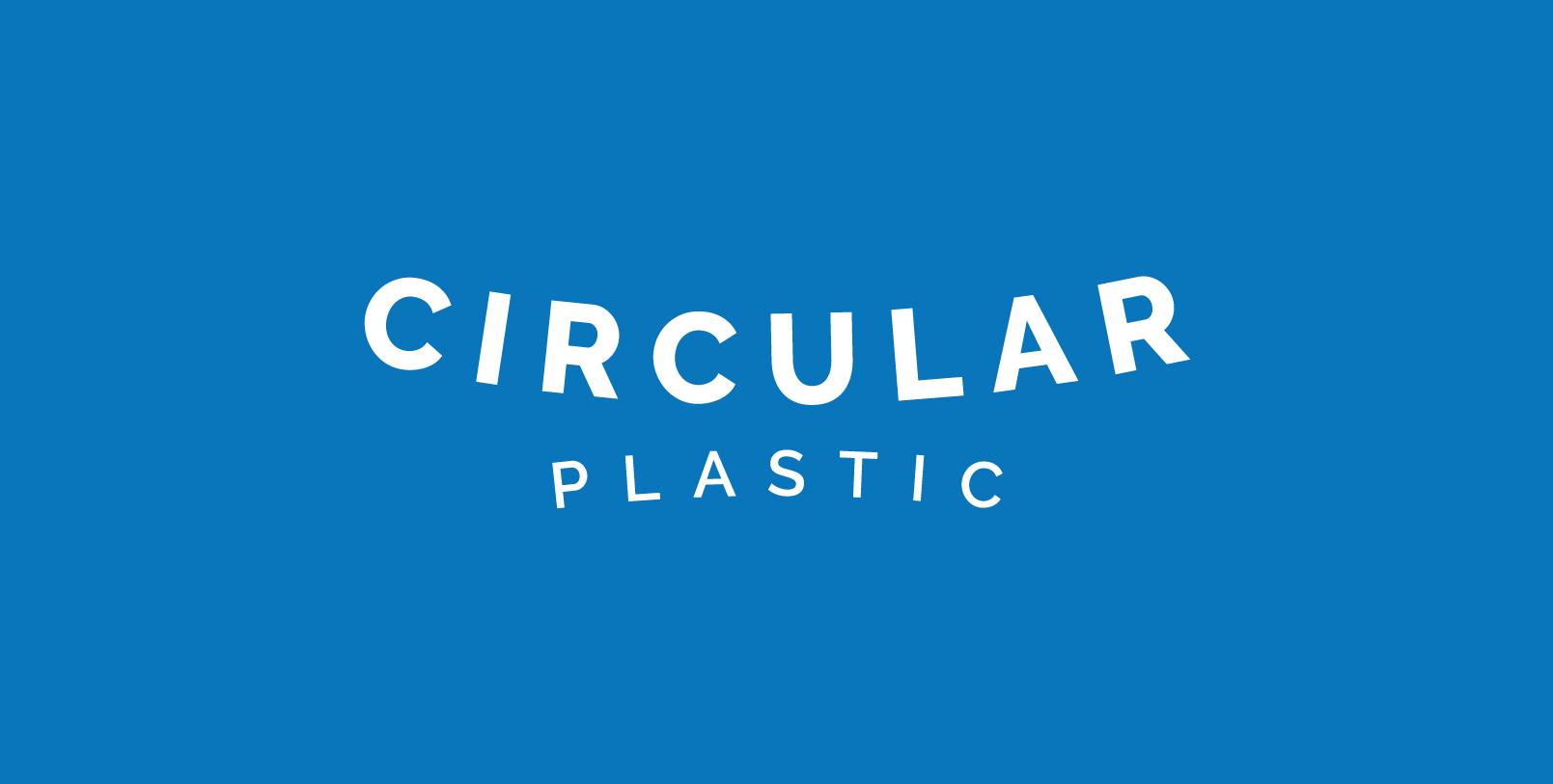 Circular Plastic logo designed by a dozen eggs