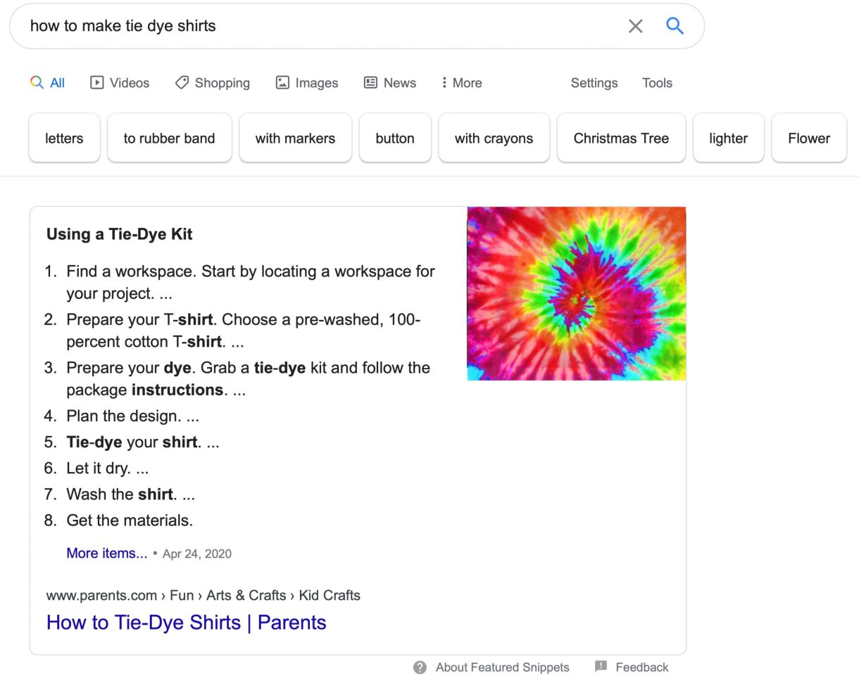 Featured Snippet How To Make Tie Dye Shirts