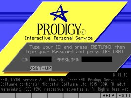 Prodigy Screenshot from 1992