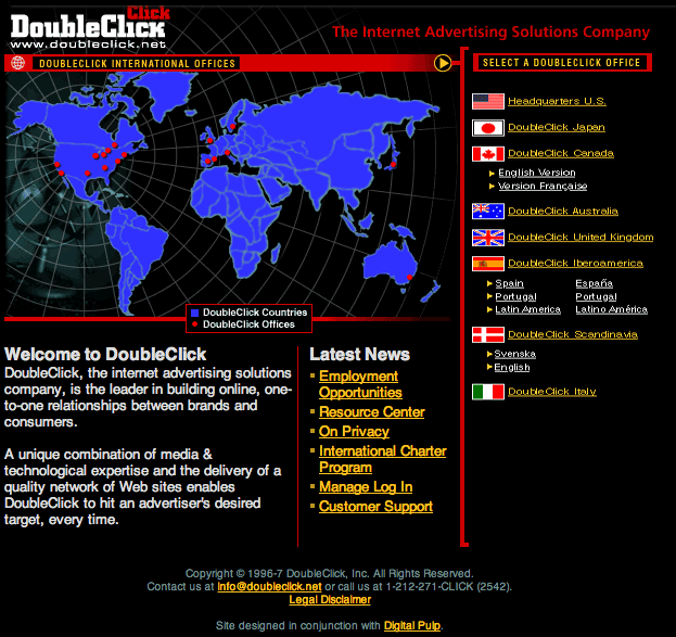 Doubleclick Screenshot 1997