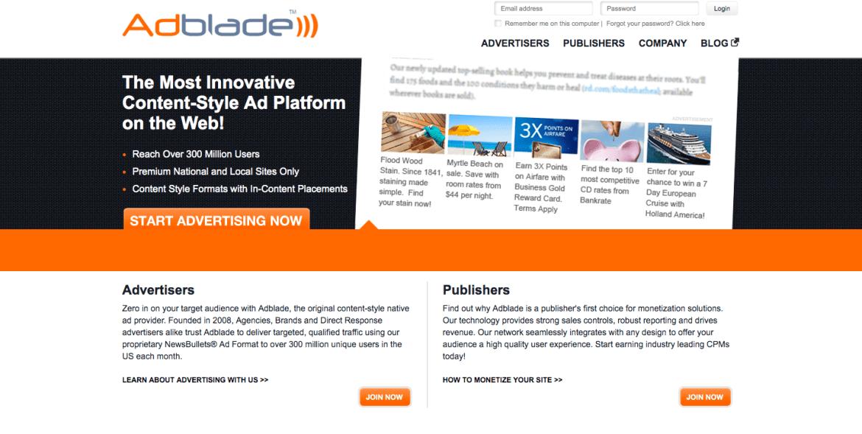 AdBlade ad network