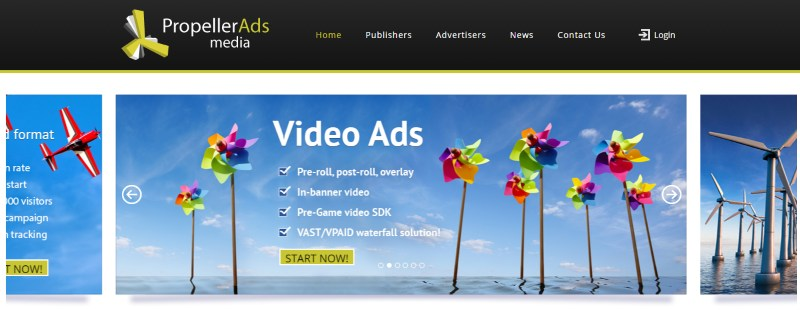 AdSense Alternatives: Propeller Ads