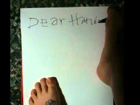 writing with foot
