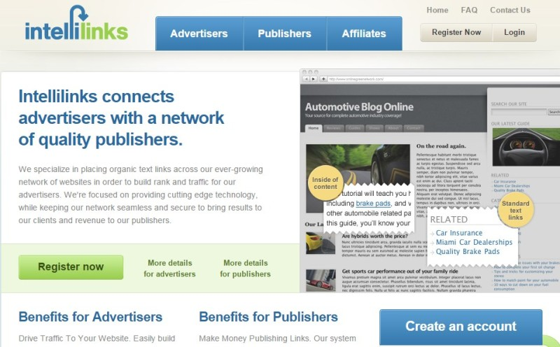AdSense Alternatives: Intellinks