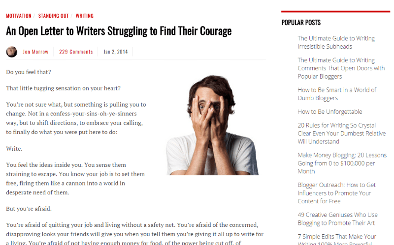 An open letter to writers struggling to find their courage