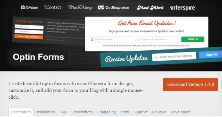 Optin Forms WordPress