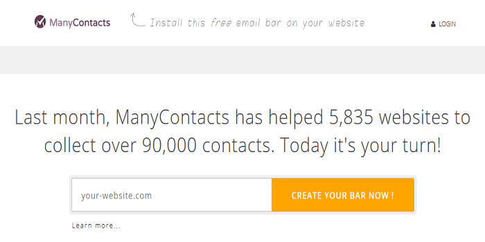 many contacts