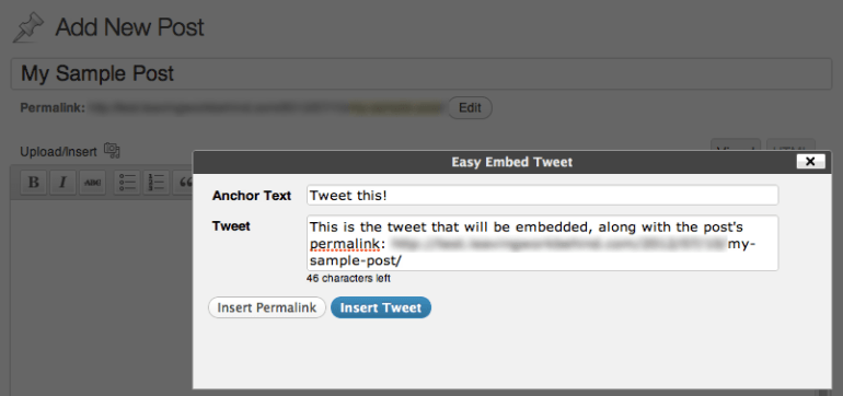 Easy Tweet Embed