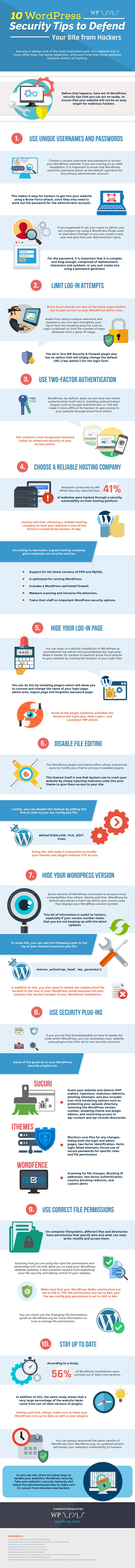 10 WordPress Security Tips to Defend Your Site From Hackers [Infographic]