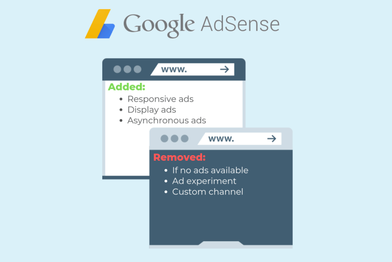 Changes to AdSense ad unit