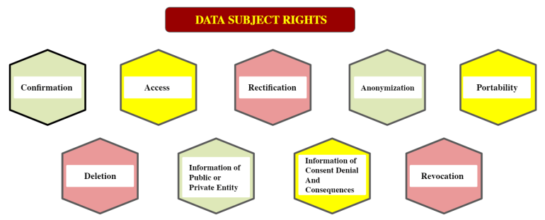 A chart on Data Subject Rights in LGPD