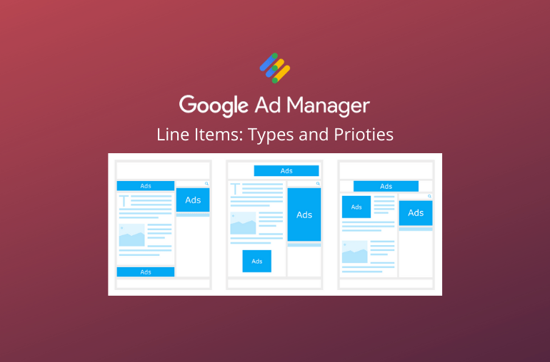 Google ad manager line items types and priorities