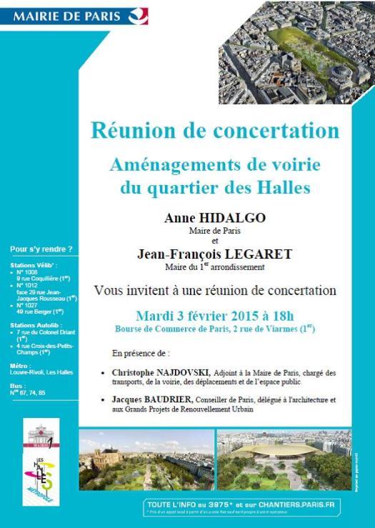 2015-02-03 - Halles - Reunion concertation voirie surface - Invitation - A5