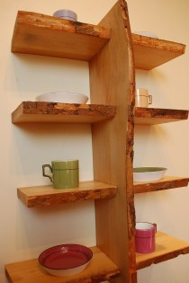 Quadruple Live Edge Shelf No. 7