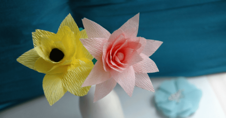 Easy DIY Crepe Paper Flower