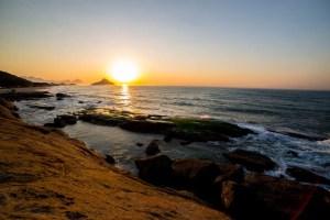 praia do secreto no rio de janeiro - por do sol
