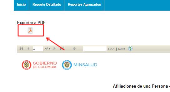 Descarga e imprime tus resultados de la SISPRO RUAF consulta en línea