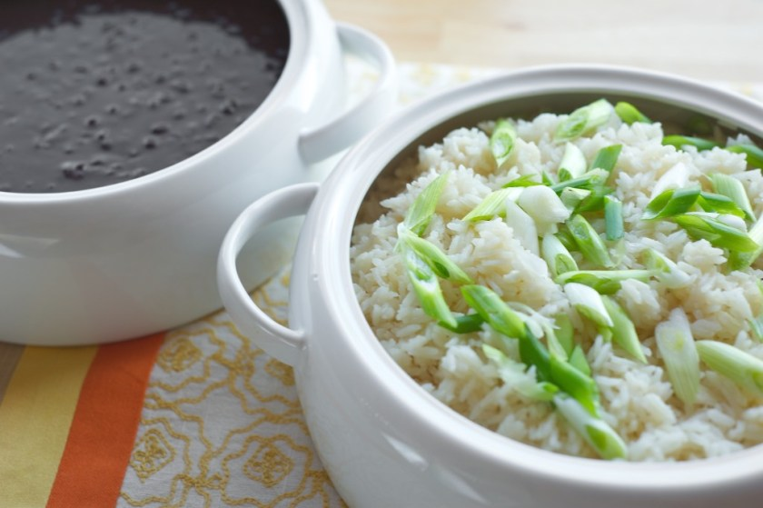 White Rice with Black Beans