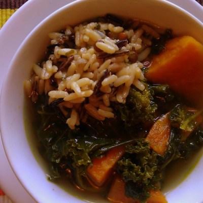 Kale and Sweet Potato Soup