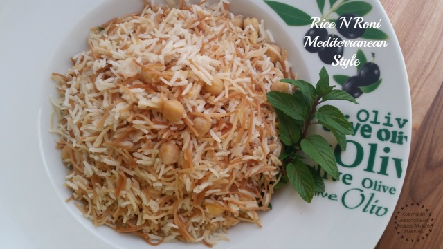 Recipe for the Rice N Roni Mediterranean Style
