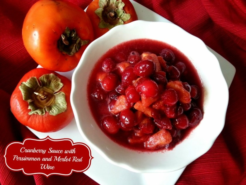 Cranberry and Persimmon Sauce #ABRecipes