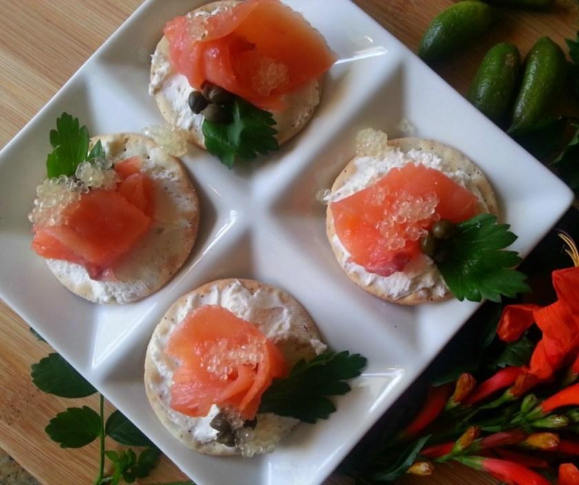 Citrus Caviar Salmon Bites #ABRecipes featured image