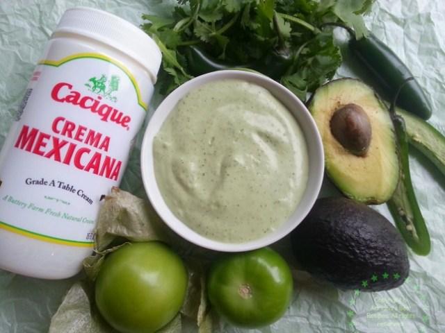 Green Creamy Serrano Sauce #ABRecipes