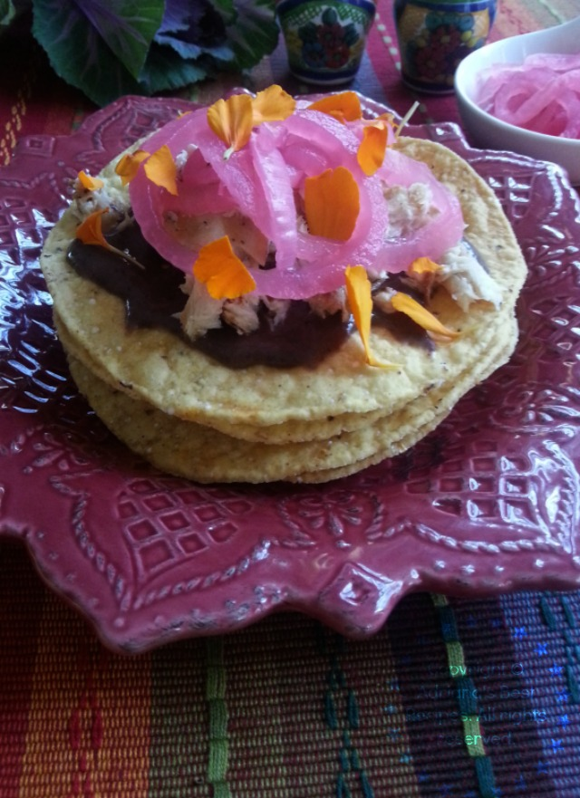 Grilled Dorado Tostadas inspired in the original Salbutes from the Yucatan culinary culture #ABRecipes