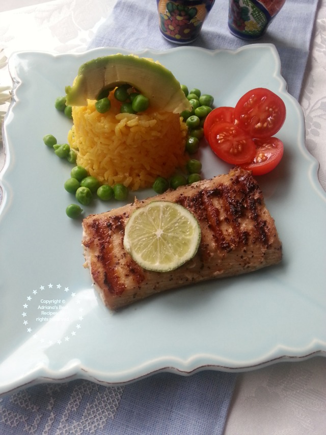 Grilled Mahi Mahi dinner cooked following food safety standards  #ABRecipes