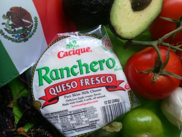 Ingredients for the Chicken Flautas Tricolor #GoAutentico