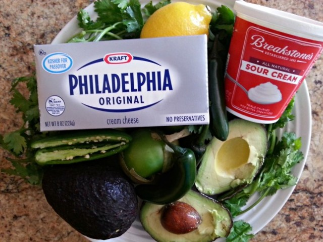 KRAFT Ingredients for Spicy Avocado Dip with PHILADELPHIA Cream Cheese