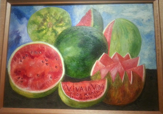 Original Art from Frida Kahlo painted in 1964 at her studio in La Casa Azul #ABRecipes