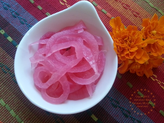 Pickled Purple Onions and Organic Edible Marigolds #ABRecipes
