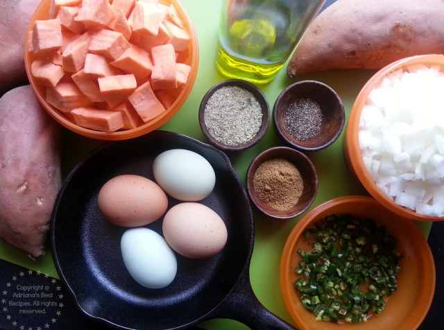 Ingredients for the Spicy Sweetpotatoes Casserole #ABRecipes #CABatata