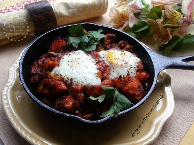 Spicy Sweetpotatoes Casserole #CABatata