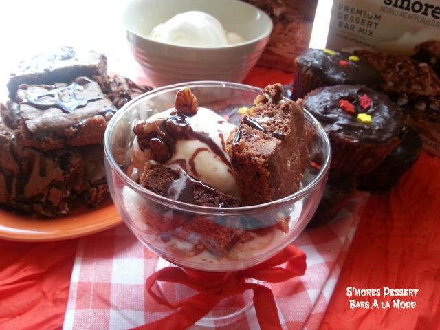 Smores Dessert Bars A la Mode for Halloween #NewFromBetty #ad
