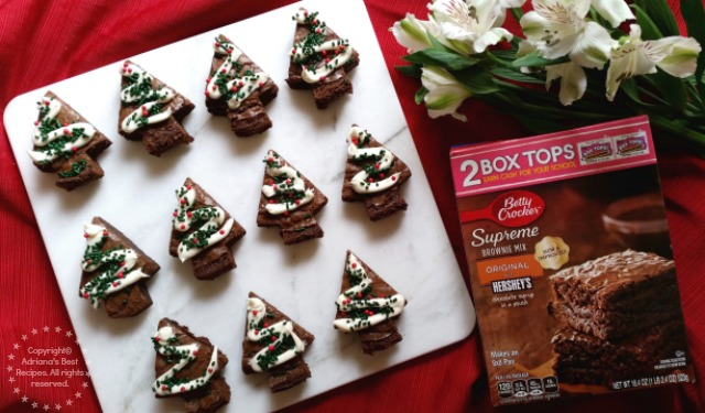 Holiday Brownies Ready to be Served #PlatefullCoOp #ad
