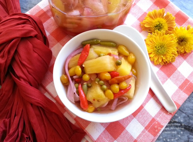 Spicy Pickled Pineapple on Sous Vide #ABRecipes #SousVideSupreme