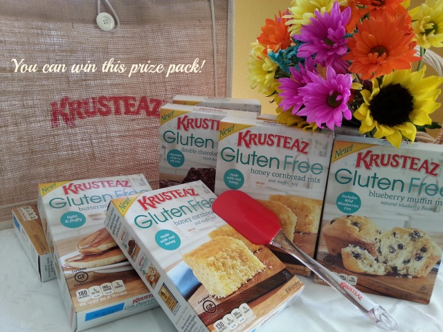 You can win this prize pack sponsored by Krusteaz #GlutenFree #Krusteaz #ad