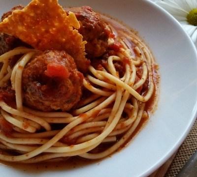 Chipotle Spaghetti and Meatballs