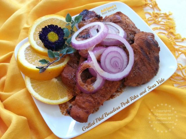Grilled Pibil Boneless Pork Ribs and Sous Vide Technique #SousVideSupreme #ad