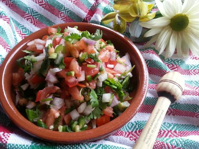 How to make fresh Mexican salsa or pico de gallo #ABRecipes